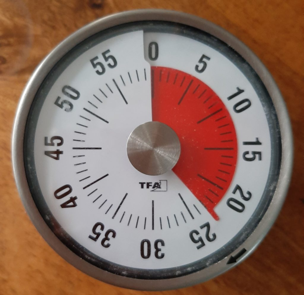 Thuis scholing timer